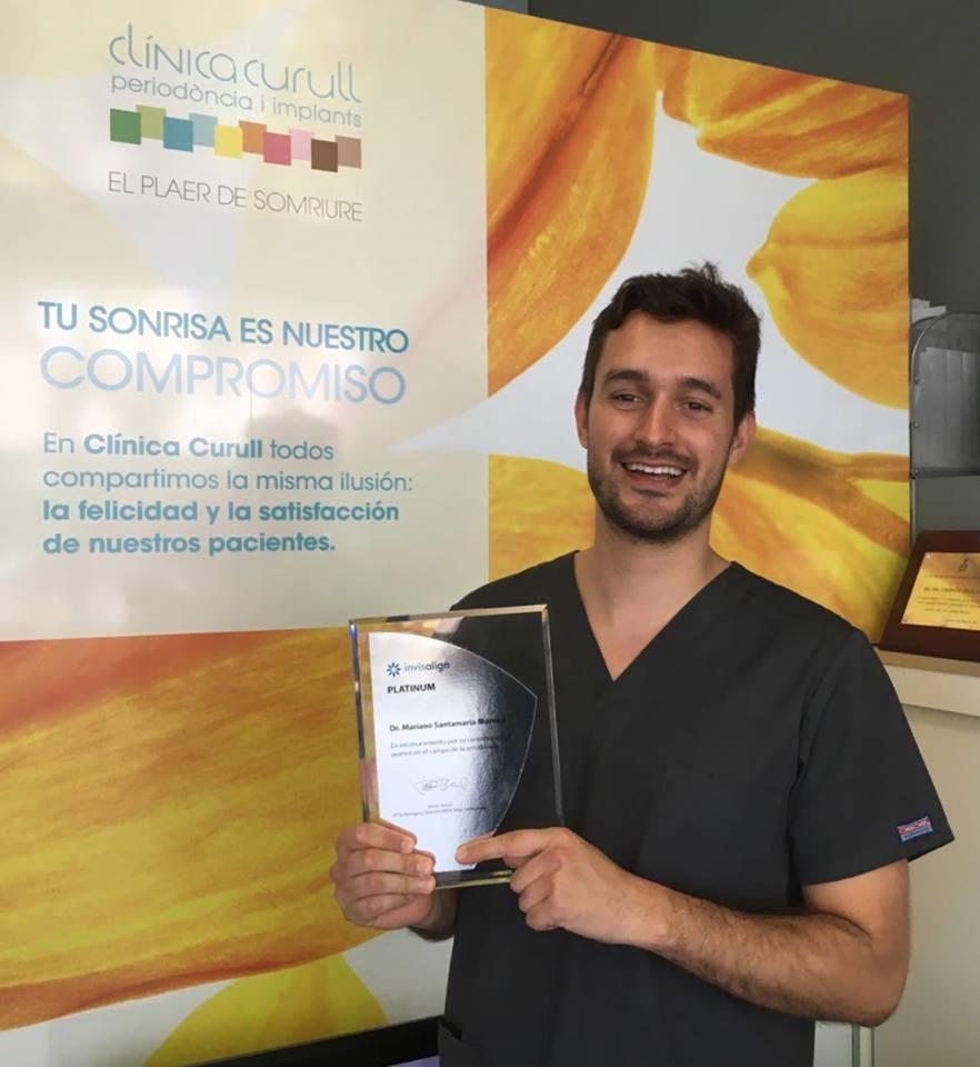 El Dr. Santamaría, premio Platinium de Invisalign