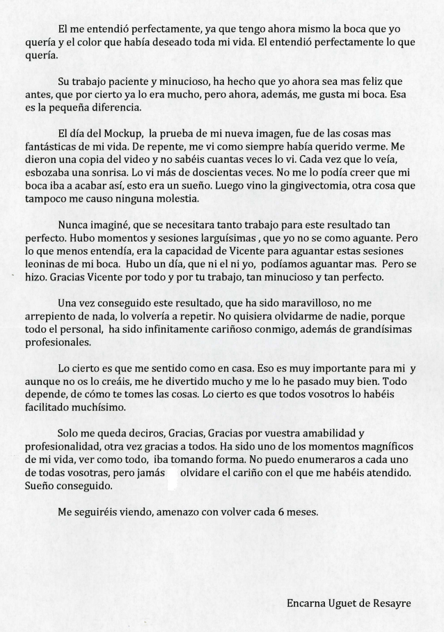 Carta de Encarna Uguet. Página 2.
